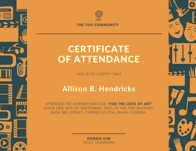 How to Design A Certificate New Free Line Certificate Maker Design A Custom Certificate
