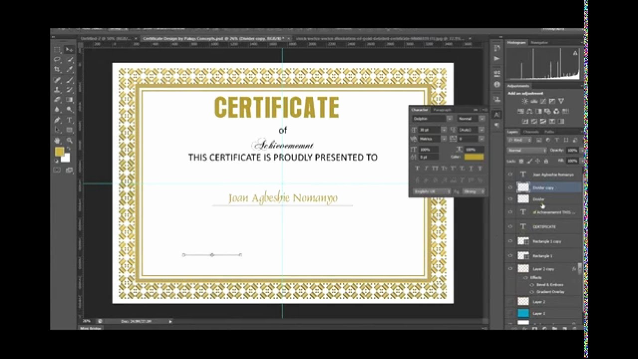 How to Design A Certificate New Shop Certificate Design In Shop Free Psd