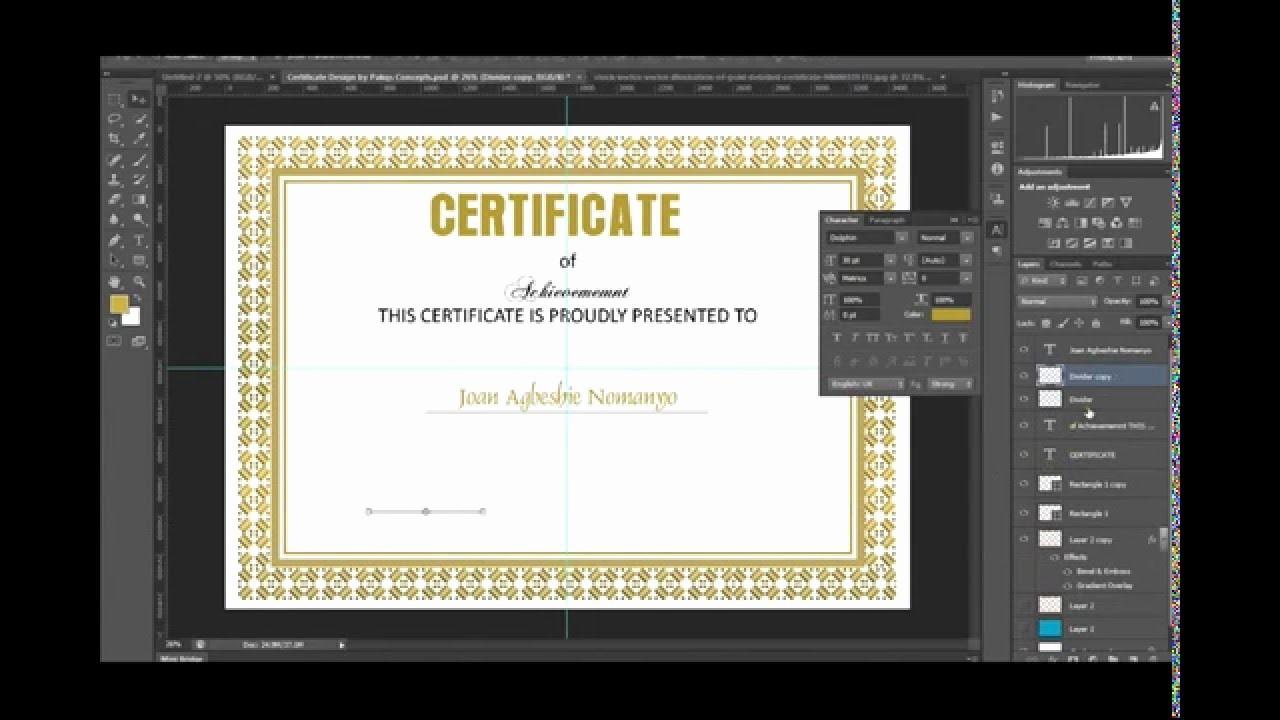 How to Design A Certificate New Shop Certificate Design In Shop Free Psd