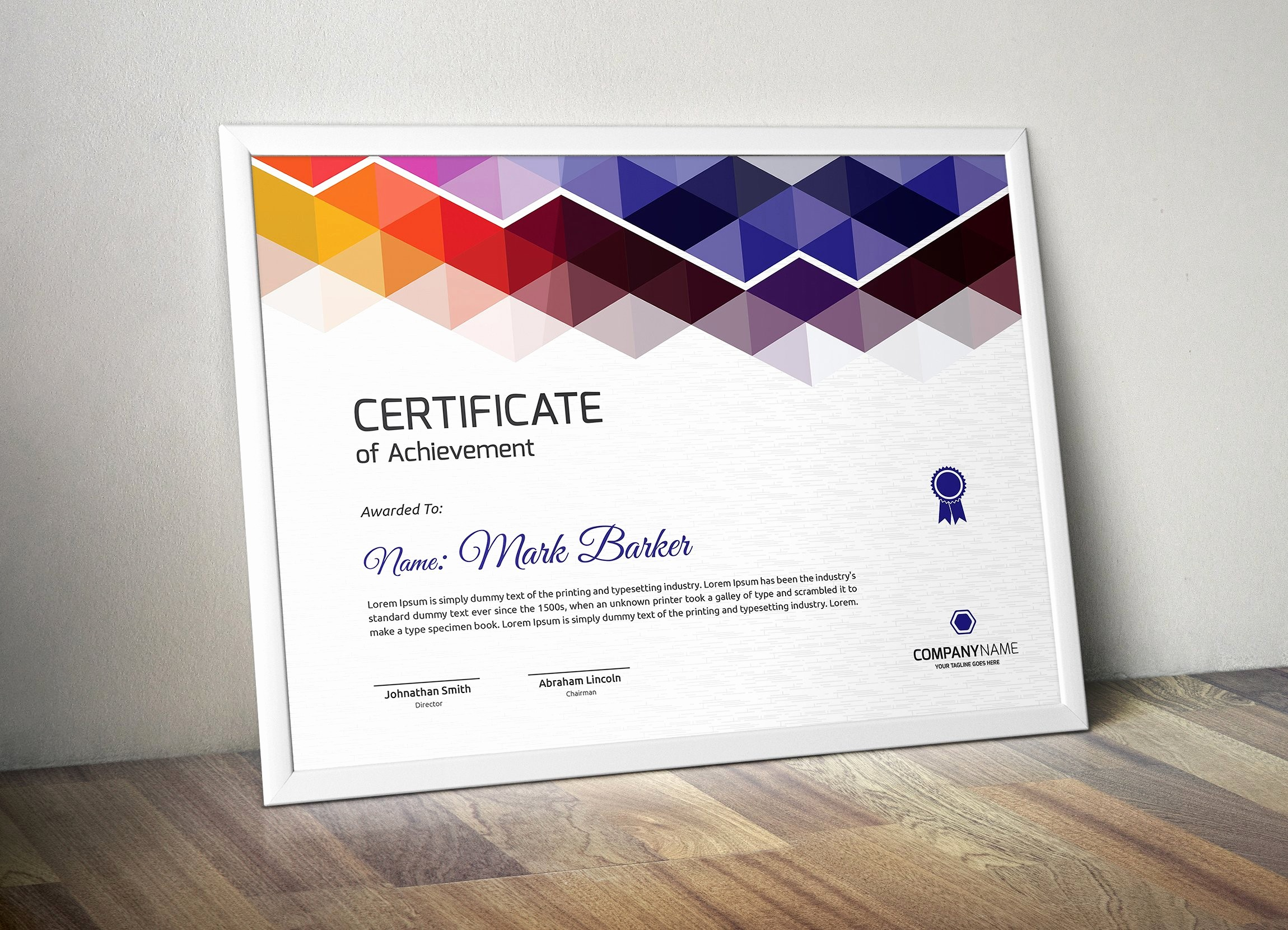 How to Design A Certificate Unique Certificate Stationery Templates Creative Market