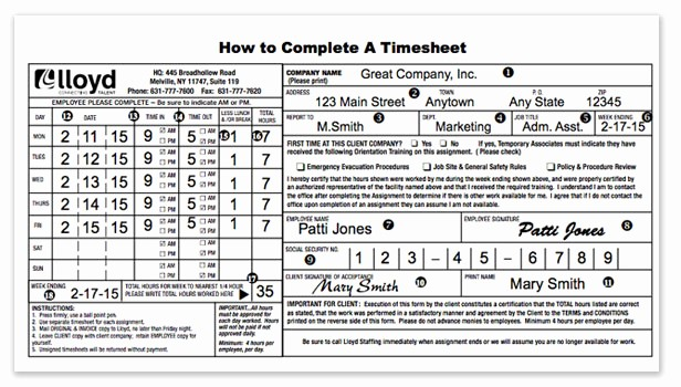 How to Do A Timesheet Elegant Payroll Procedures & Timesheets Lloyd Staffing
