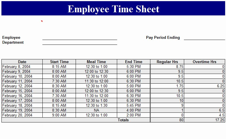 How to Do A Timesheet Lovely Employee Time Sheet Template My Excel Templates