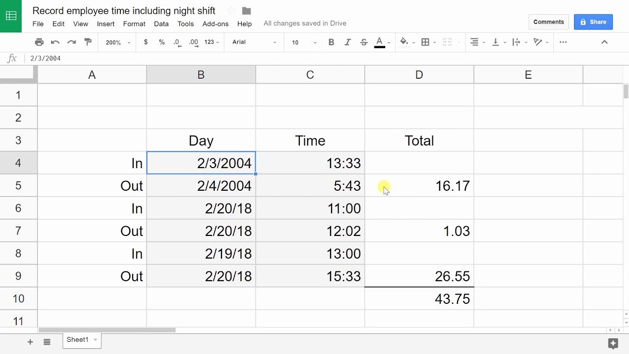 How to Do A Timesheet New Create An Employee Timesheet Using Google Sheets