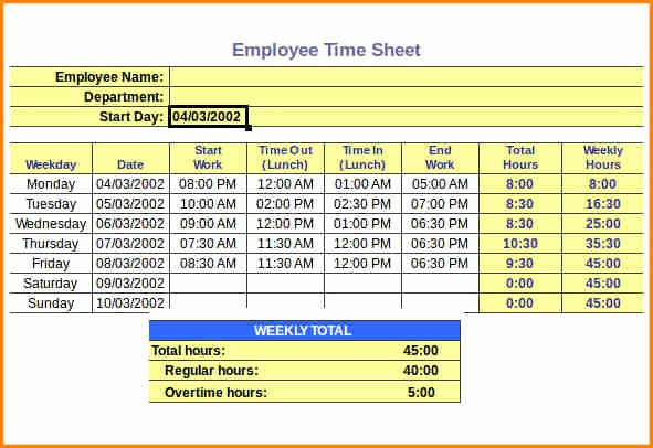 How to Do A Timesheet Unique 6 Payroll Timesheet Calculator