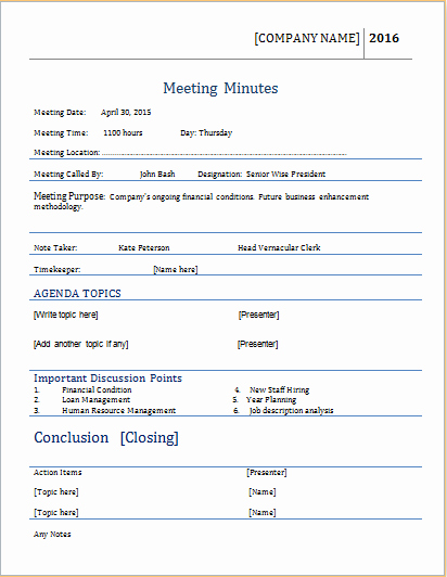 How to Document Meeting Minutes Awesome Meeting Minutes Template for Ms Word
