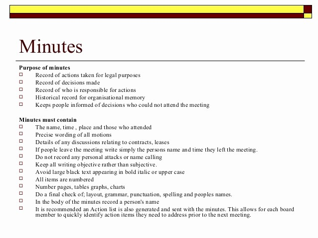 How to Document Meeting Minutes Awesome Meeting Procedures
