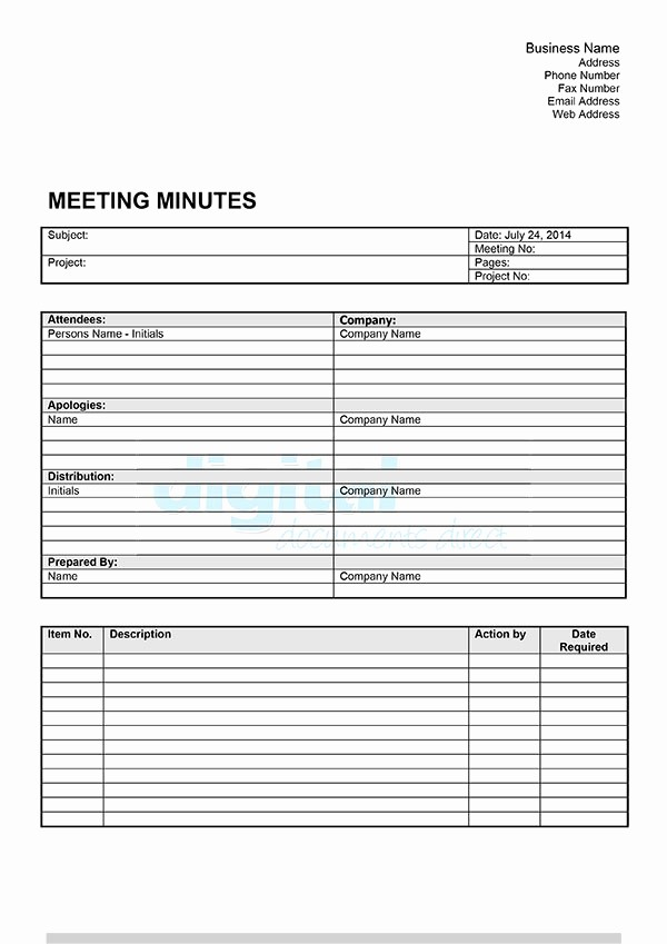 How to Document Meeting Minutes Fresh Meeting Minutes Template Added