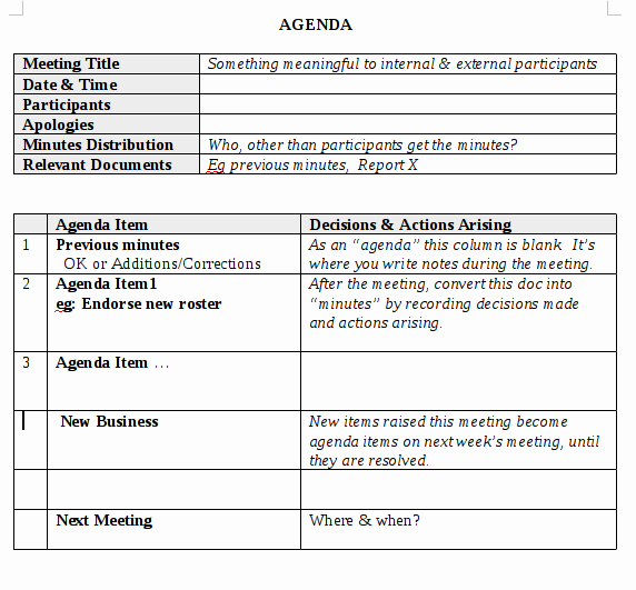 How to Document Meeting Minutes Inspirational the Minutes Document