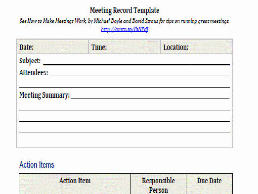How to Document Meeting Minutes Lovely Meeting Record Intelliven