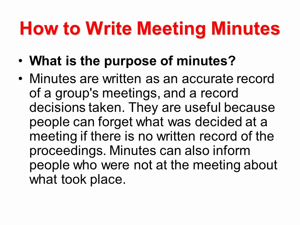 How to Document Meeting Minutes Unique Writing A Business Letter Ppt Video Online