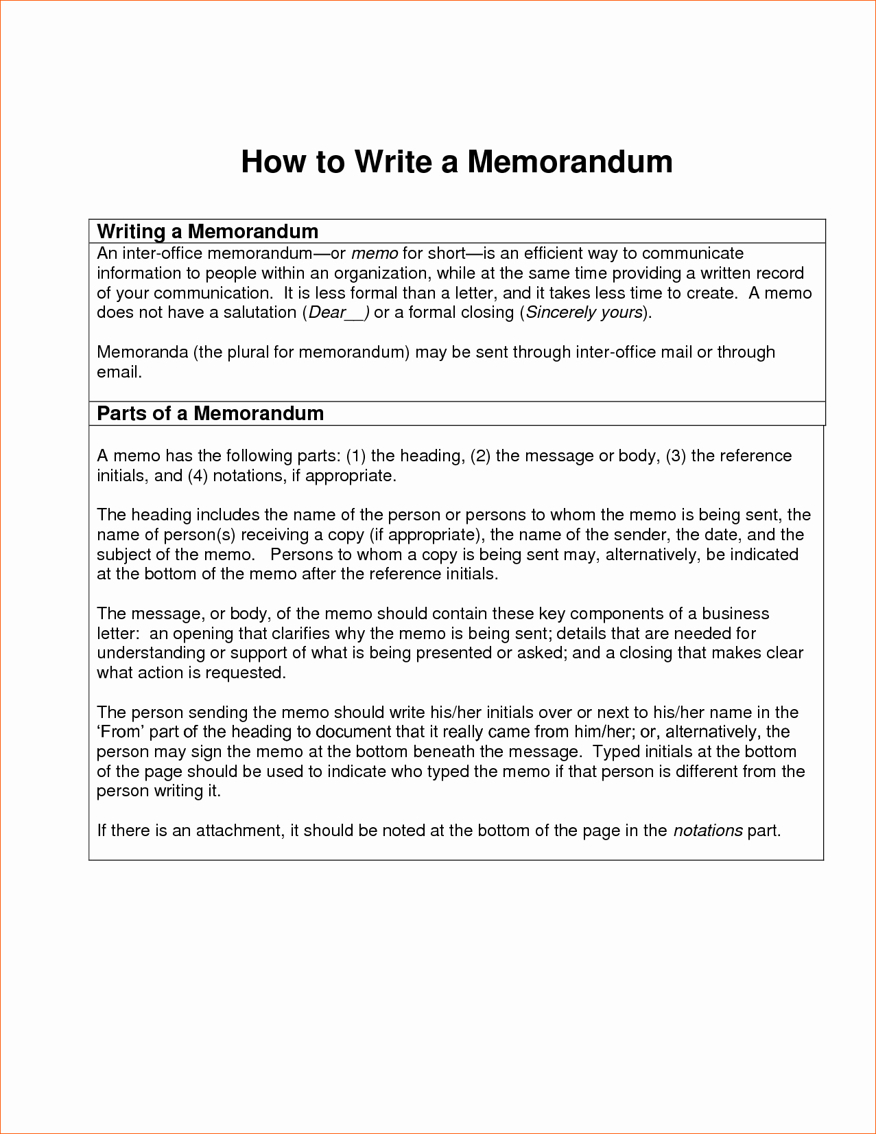 How to Draft A Memo Beautiful 10 How to Write A Memorandum