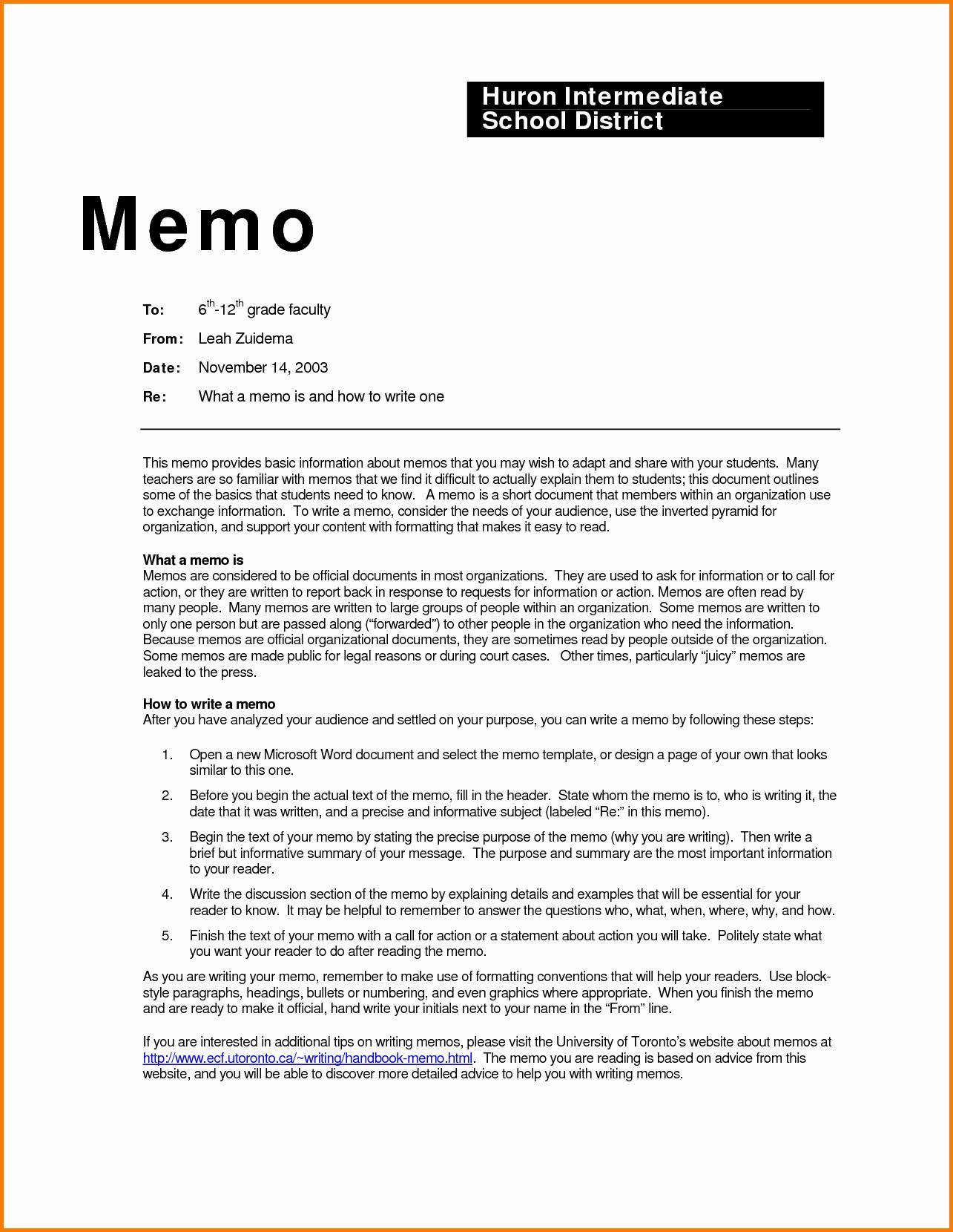 How to Draft A Memo Beautiful 4 How to Write Business Memo