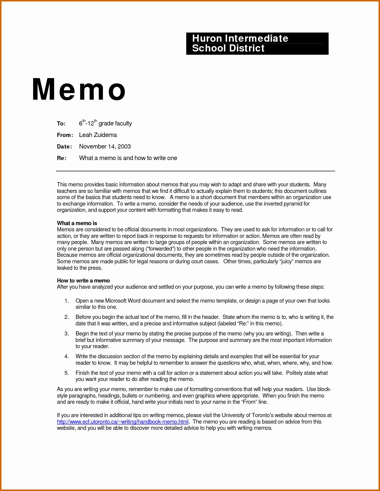 How to Draft A Memo Fresh 5 How to Write A Business Memorandum