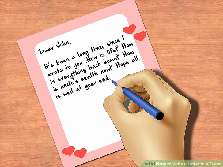 How to Draft A Memo Inspirational How to Write A Letter to A Friend with Wikihow