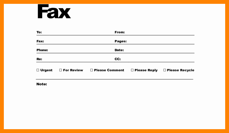 How to Fax Cover Sheet Elegant Fax Cover Sheet Pdf Fillable