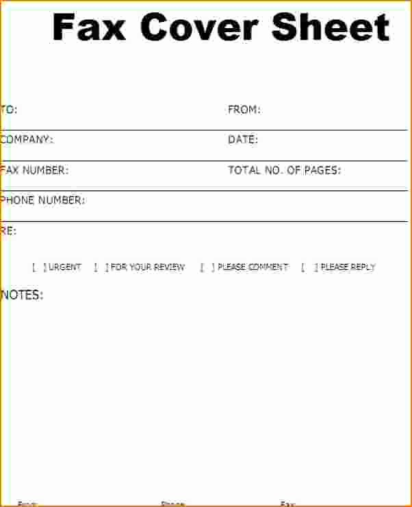 How to Fax Cover Sheet Fresh 4 Free Fax Cover Letter