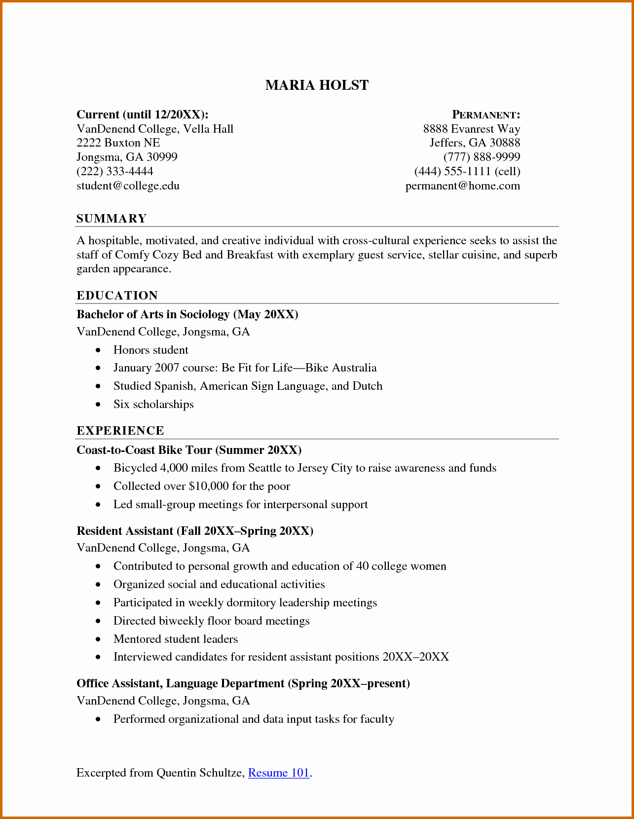 How to form A Resume Awesome Lease Template