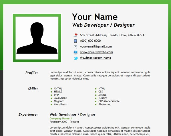 How to form A Resume Elegant How to Create An HTML5 Microdata Powered Resume