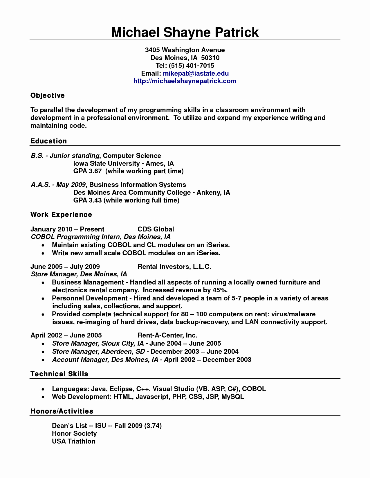 How to form A Resume Inspirational Standard Resume