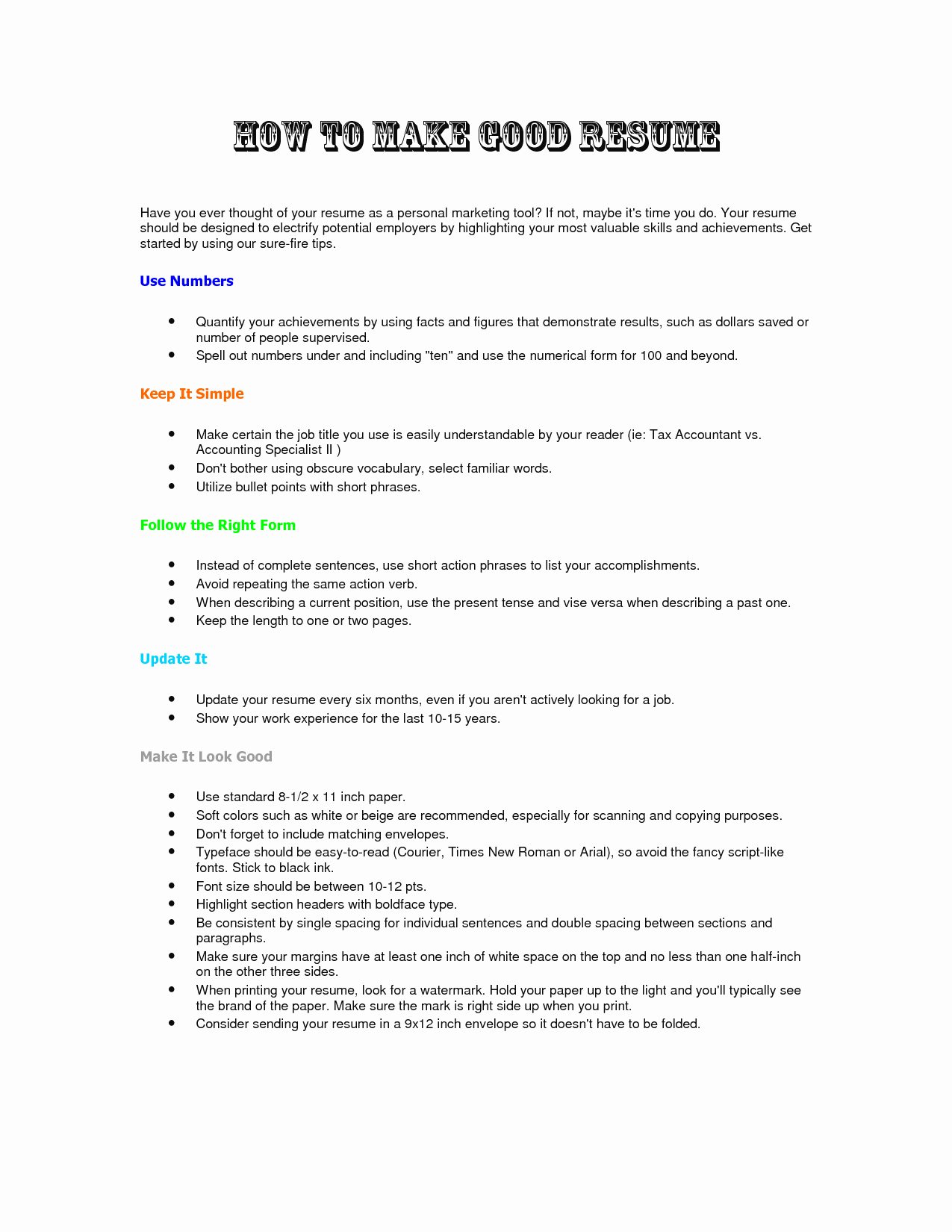 How to form A Resume Lovely How to Make A Resume