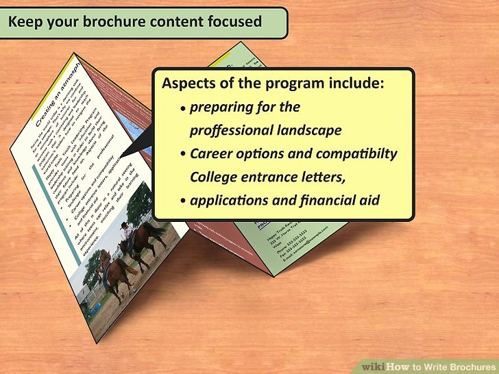How to format A Brochure Elegant How to Write Brochures 12 Steps with Wikihow