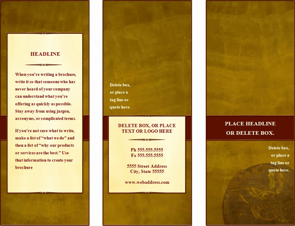 How to format A Brochure Inspirational Make A Tri Fold Brochure