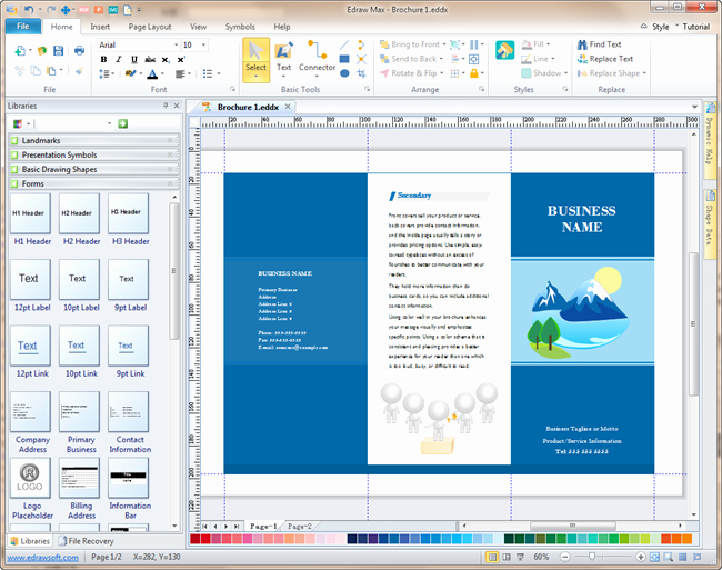 How to format A Brochure New Brochure software A Powerful tool to Make Elegant Brochures