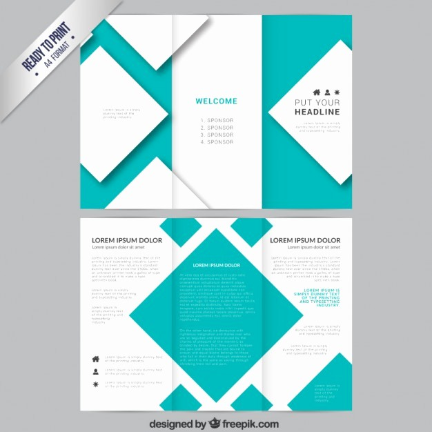 How to format A Brochure New Brochure Template with Squares Vector