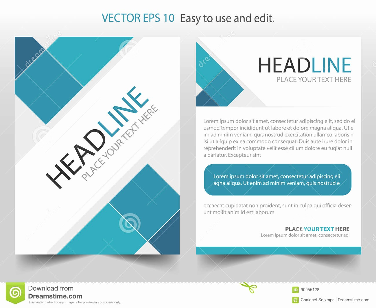 How to format A Brochure Unique Blue Square Corporate Brochure Design Template Vector