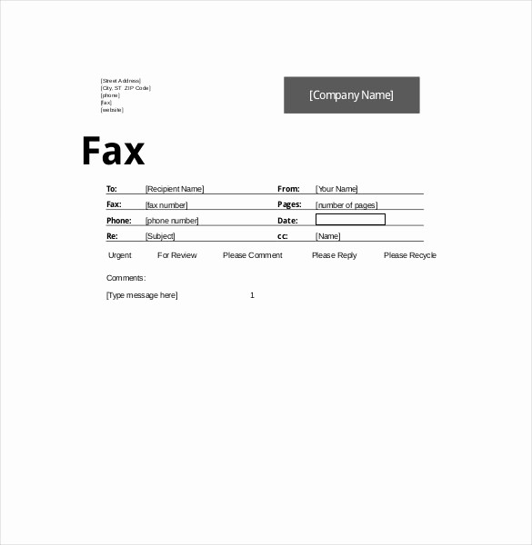 How to format A Fax Best Of 10 Fax Cover Sheet Templates Free Sample Example