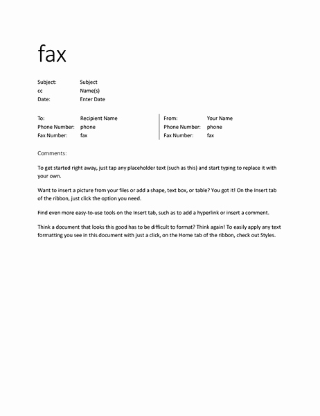 How to format A Fax Elegant format Of Fax Madrat