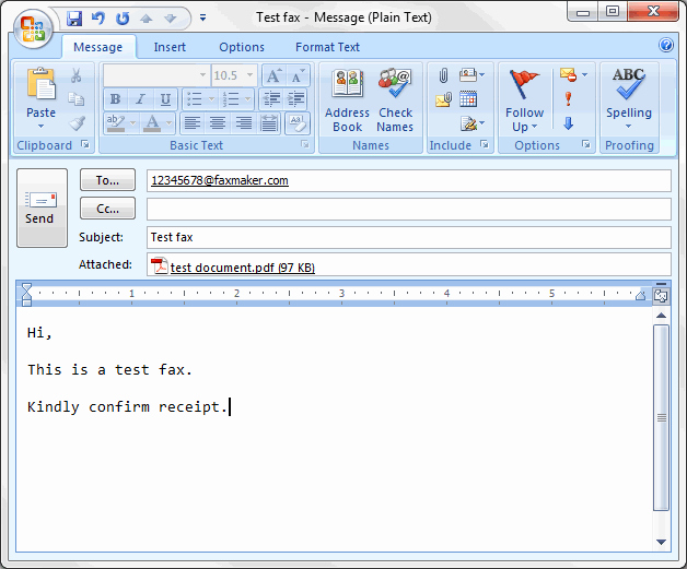 How to format A Fax Fresh Sending Faxes Via Email