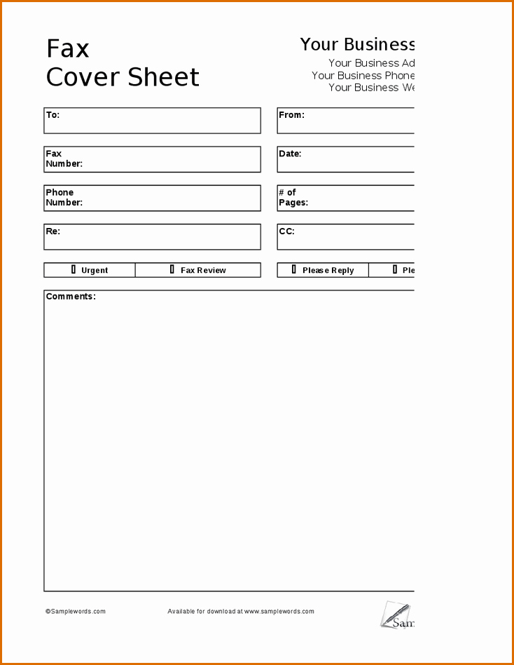 How to format A Fax Unique 6 Fax Cover Sheet format