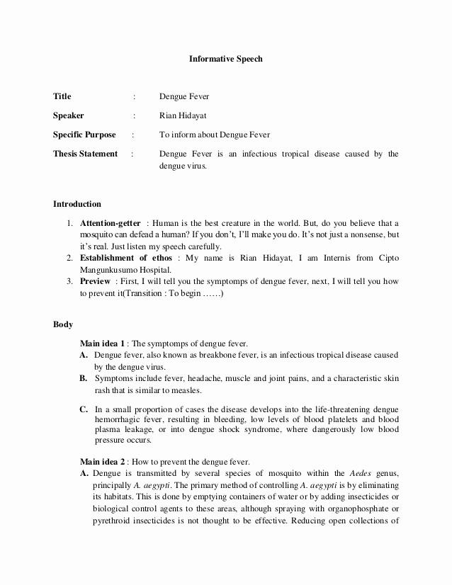 How to format A Speech Best Of Rian Hidayat Informative Speech