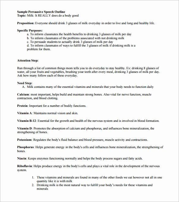 How to format A Speech New 4 Persuasive Speech Outline Templates Pdf Doc
