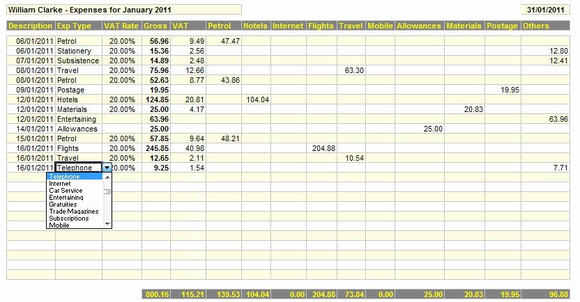 How to Log Business Expenses Awesome Business Expenses Template Business Expenses Spreadsheet