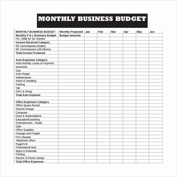 How to Log Business Expenses Beautiful 10 Sample Business Bud Templates