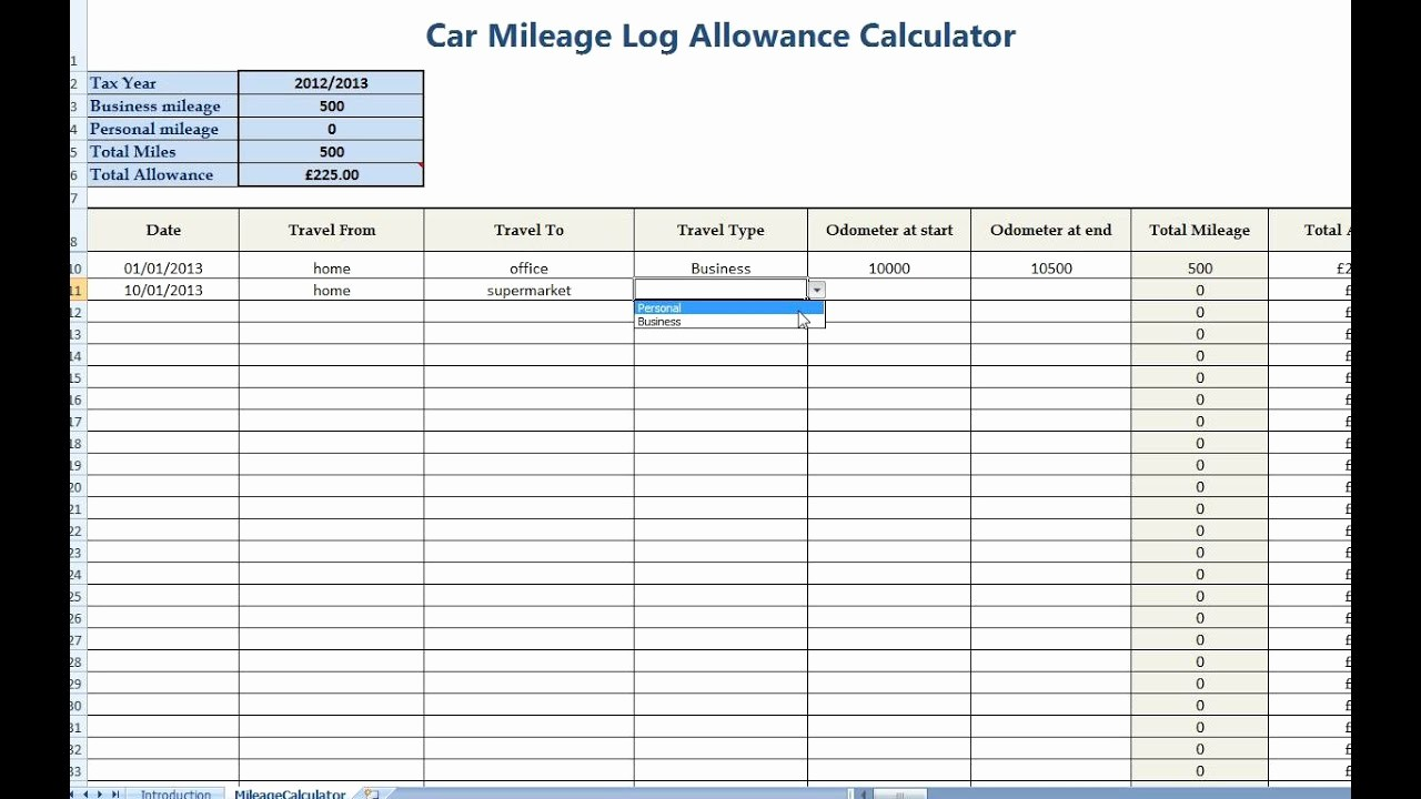 How to Log Business Expenses Beautiful Car Mileage Allowance Expense Calculator for Self Employed