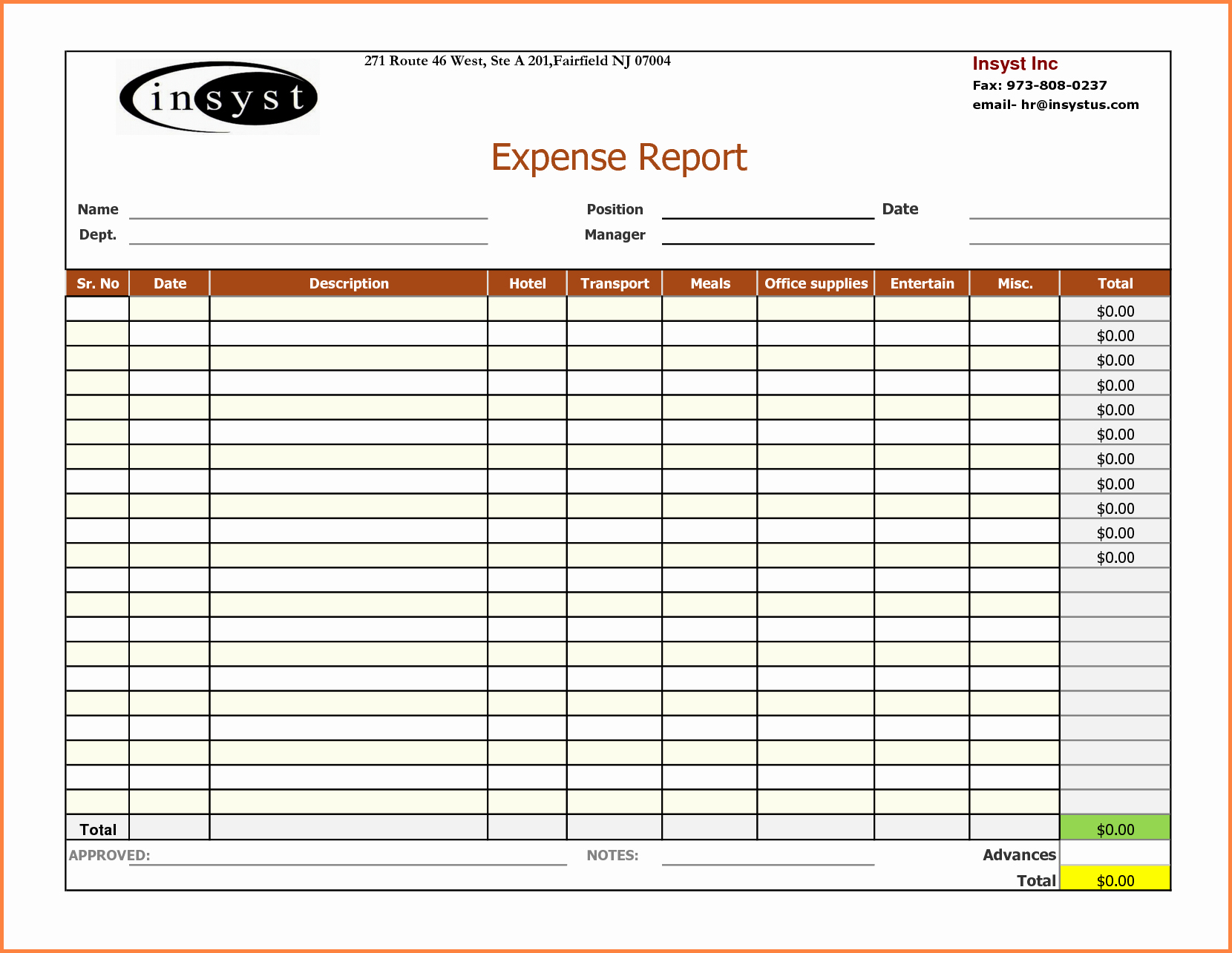How to Log Business Expenses Elegant 6 Expense Report Spreadsheet Template