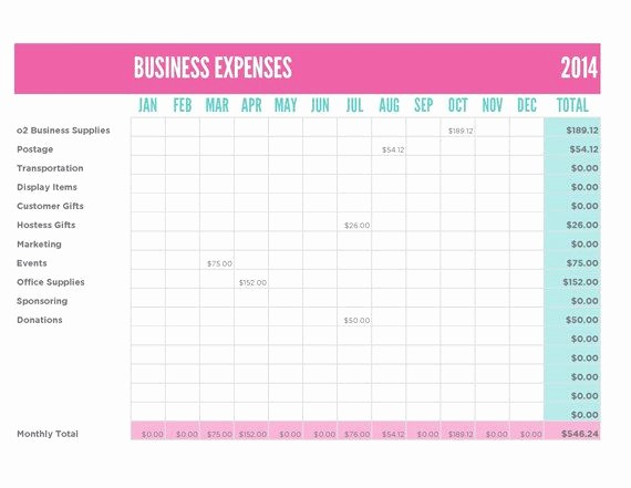 How to Log Business Expenses Elegant origami Owl Inspired Business Reports Expense Report