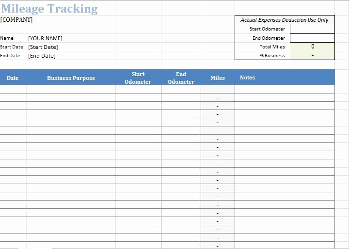 How to Log Business Expenses Inspirational 30 Printable Mileage Log Templates Free Template Lab