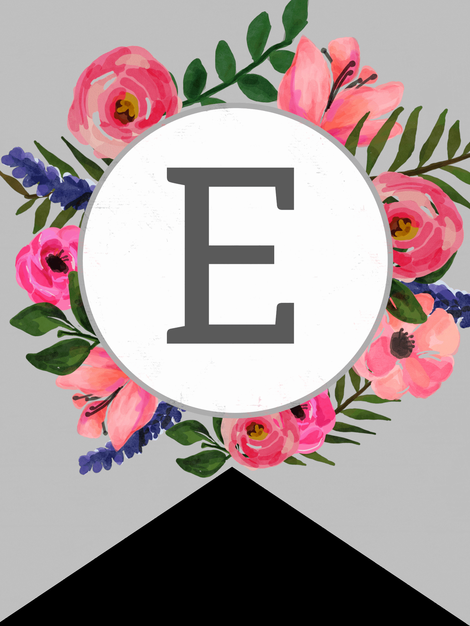 How to Make Banner Letters Beautiful Floral Alphabet Banner Letters Free Printable Paper