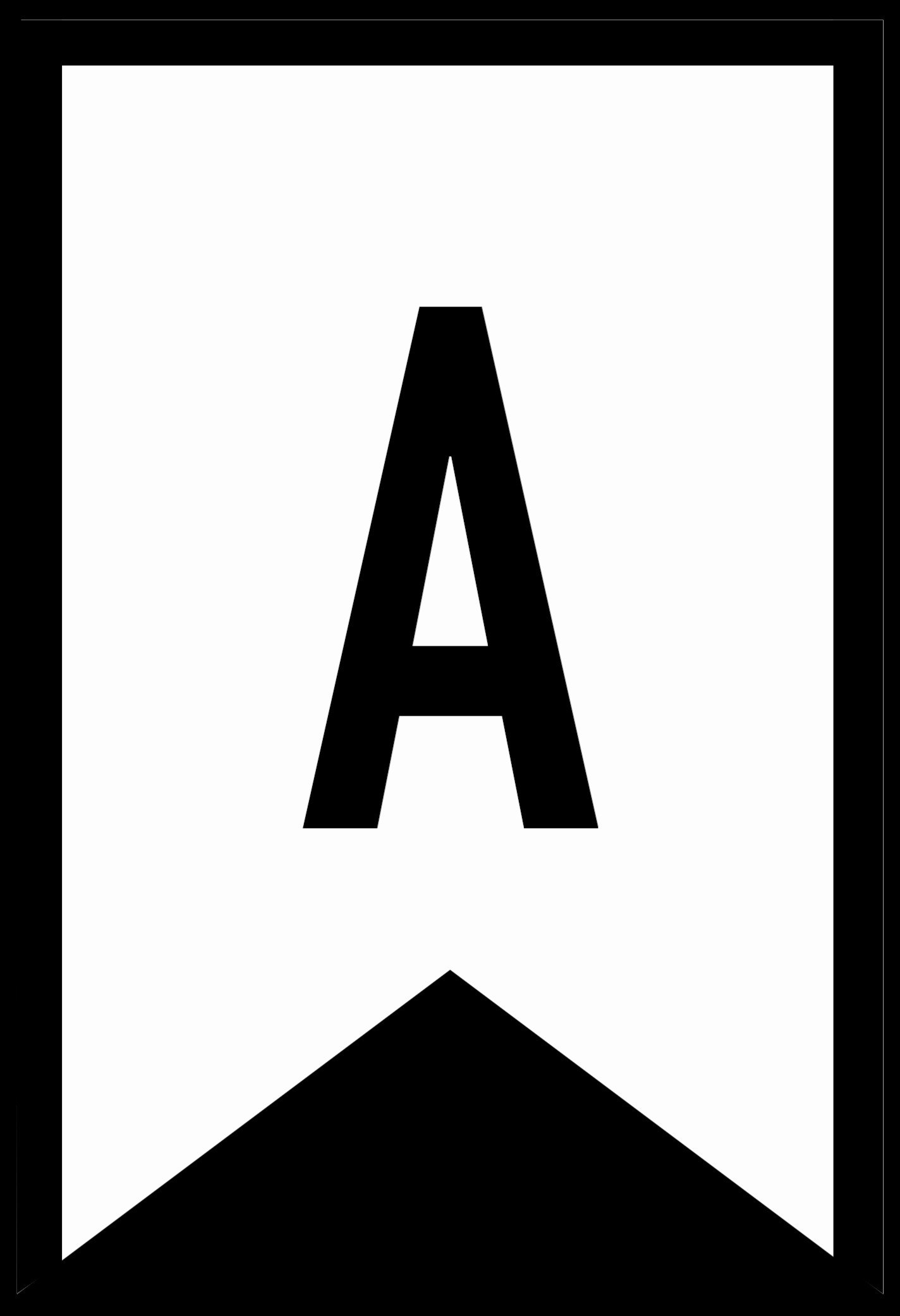 free printable abc letters banner templates