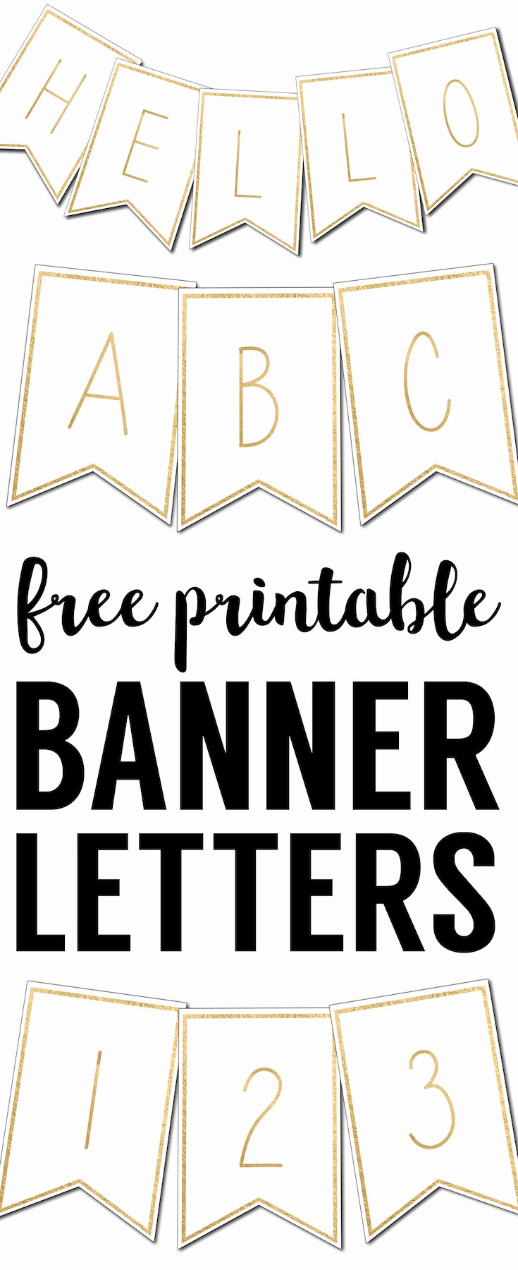 How to Make Banner Letters Beautiful Free Printable Banner Letters Templates Paper Trail Design