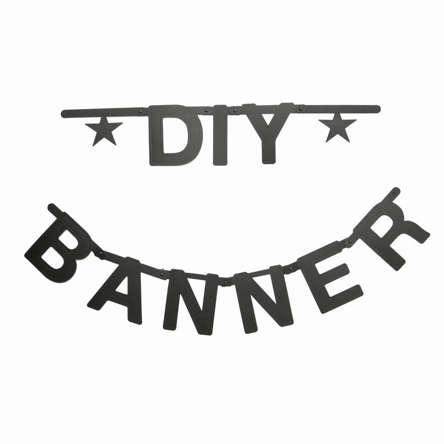 How to Make Banner Letters Beautiful Garland Diy Letter Banner Black