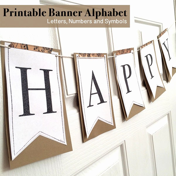 How to Make Banner Letters Best Of Printable Full Alphabet for Banners the Country Chic Cottage