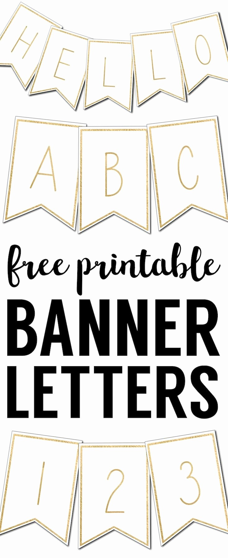 How to Make Banner Letters Elegant Free Printable Banner Letters Templates