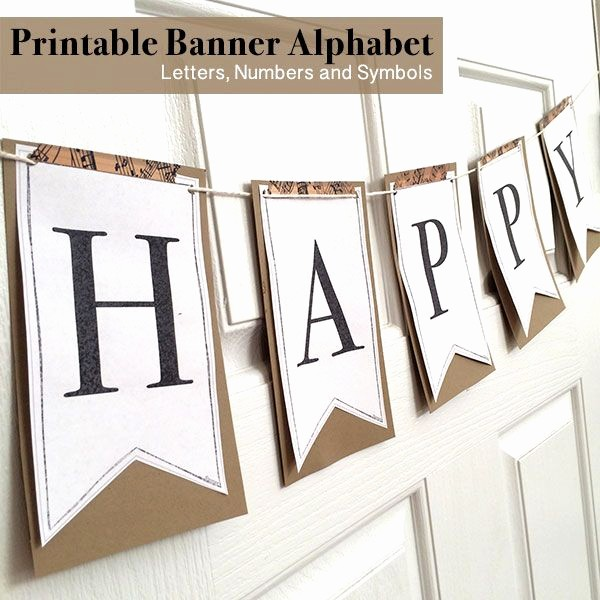 How to Make Banner Letters Elegant Printable Full Alphabet for Banners