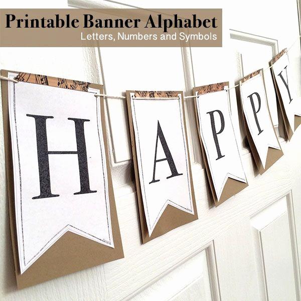 How to Make Banner Letters Elegant Printable Full Alphabet for Banners