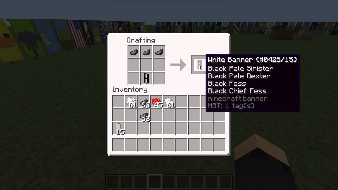 How to Make Banner Letters Fresh Minecraft Banner Tutorial 21 Letters A En B